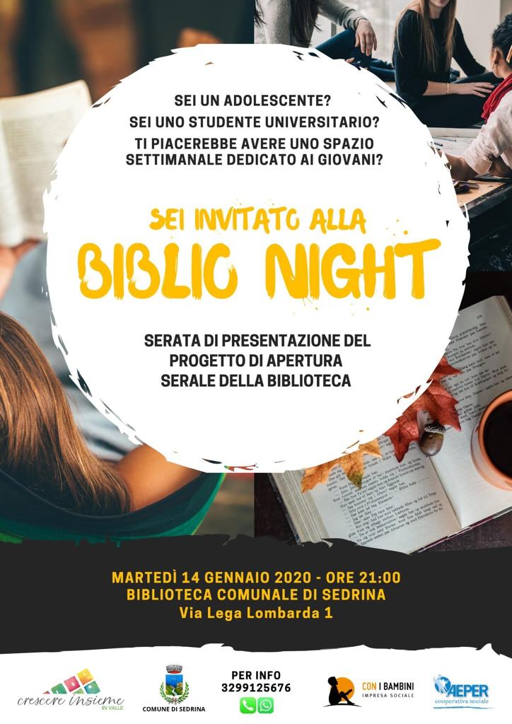 Immagine Biblio night